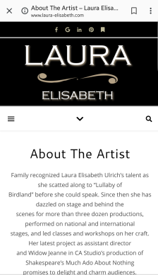 Laura Elisabeth Ulrich website theatre bio