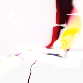 dark red and yellow and white abstract art