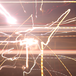 abstract art made with light
