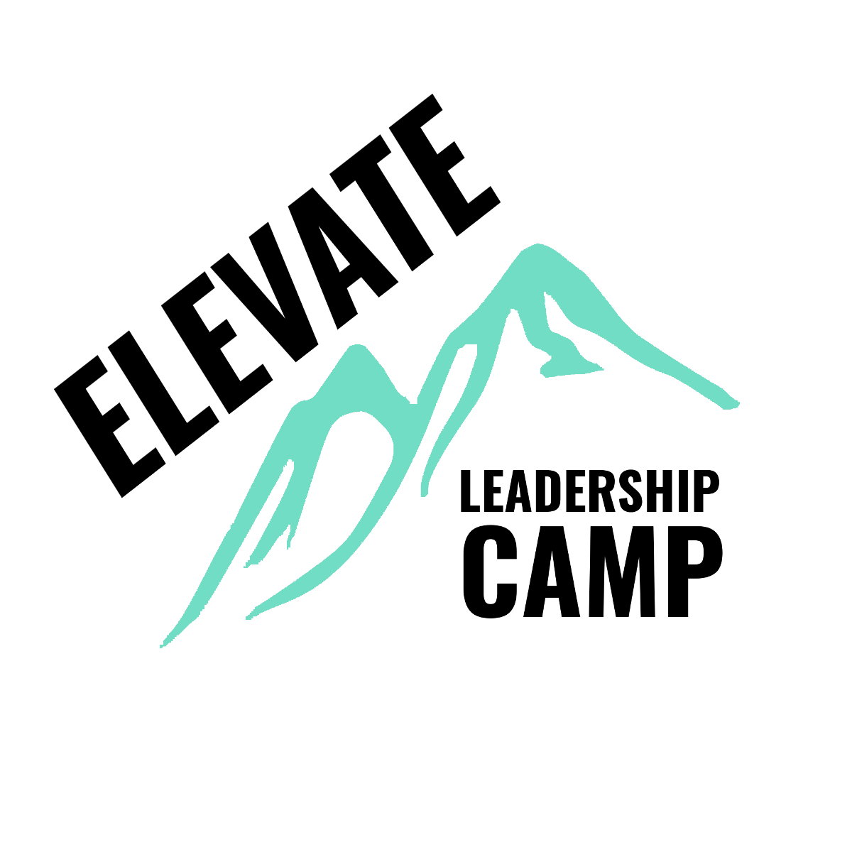 elevate leadership camp logo with camp name and mountains