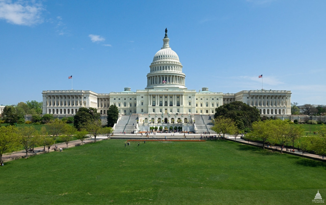 United States Capitol building on a clear day